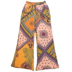 Zara Wide Leg Crop Gauzy Resort Pants Small